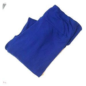 Lularoe OS Leggings Navy Solid Blue